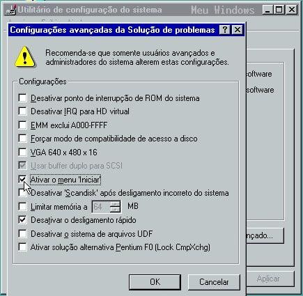 Como iniciar o Windows 98 no modo de segurança 6