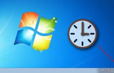 Como ocultar o relógio da barra de tarefas no Windows 7.
