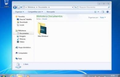 Como alterar a imagem da pasta no Windows 7