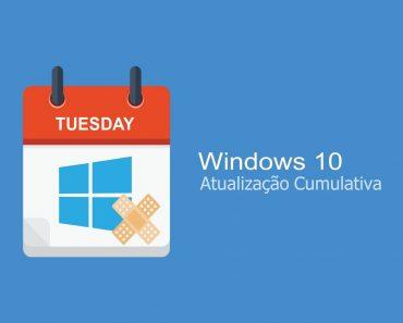 Atualização cumulativa disponível para o Windows 10