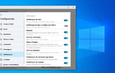 Escolher quais contatos do Skype receber notificações