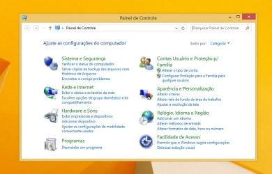 Abrir o Painel de Controle no Windows 8.1