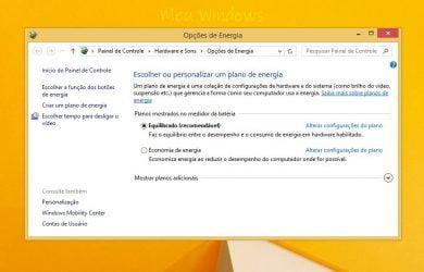 Desativar a inicialização rápida no Windows 8.1