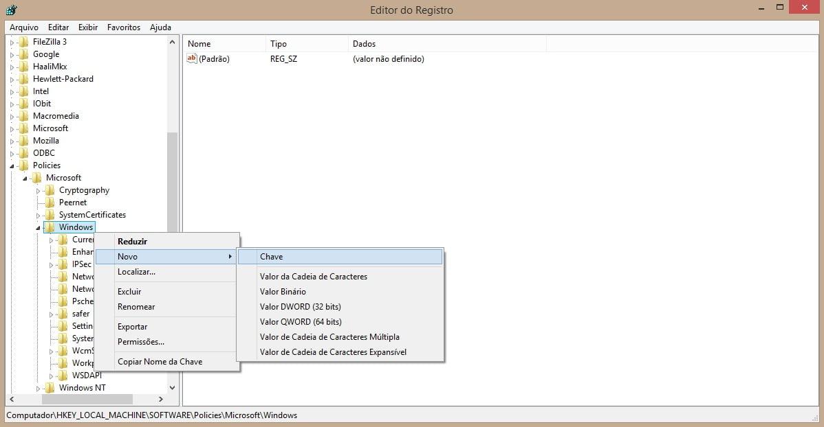 Como desativar a tela de bloqueio no windows 8.1 1