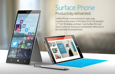Surface Phone com Windows 10