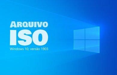 Arquivo ISO da Atualização do Windows 10 de maio de 2019