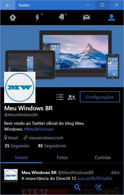 Twitter Windows 10 Mobile