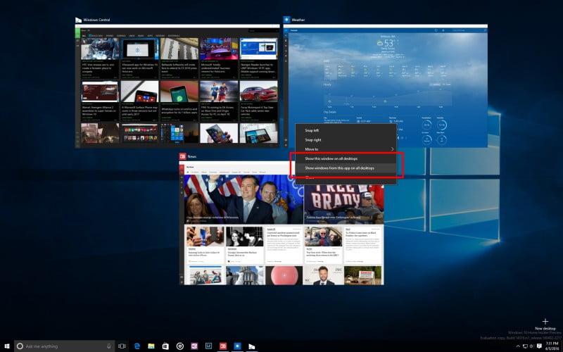 Novidades da Atualização de Aniversário do Windows 10 11