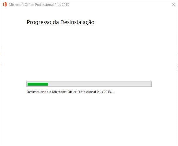 Desinstalar o Office 2013