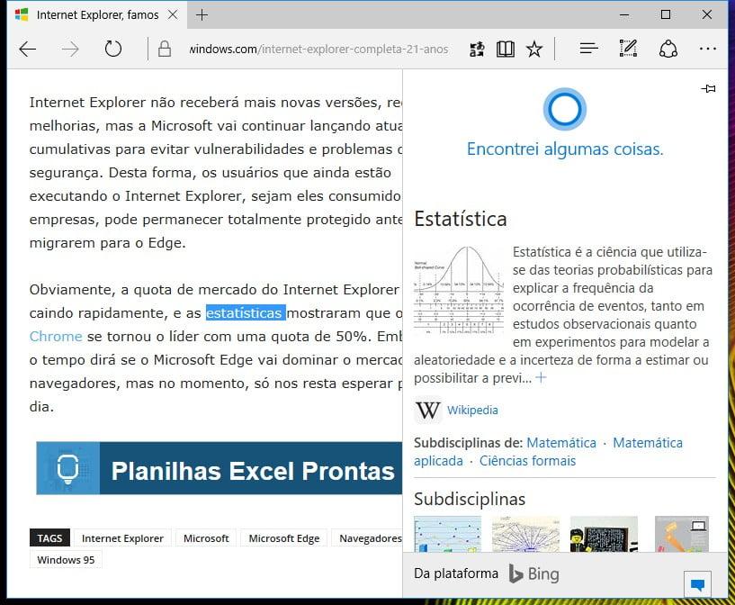 10 curiosidades sobre Microsoft Edge