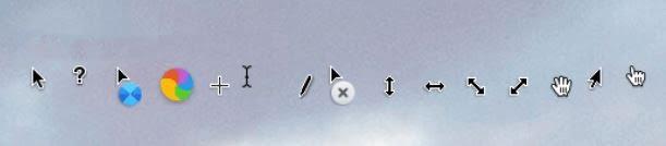 Esquema do cursor do macOS para Windows