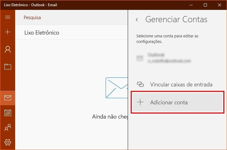 Conta Yahoo! no Windows 10