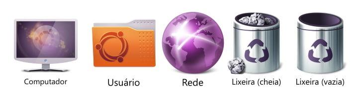 Ícones do Ubuntu para área de trabalho