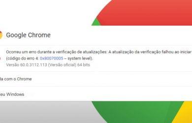 0x80070005 no Google Chrome