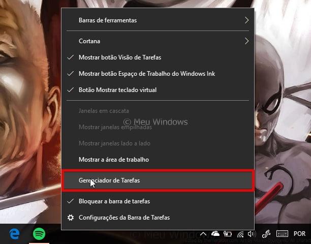 inicialização do Windows 10