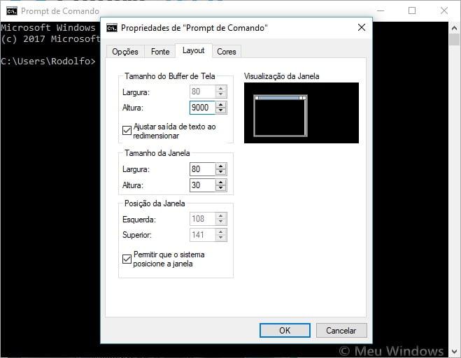 Personalizar o Prompt de Comando no Windows 10
