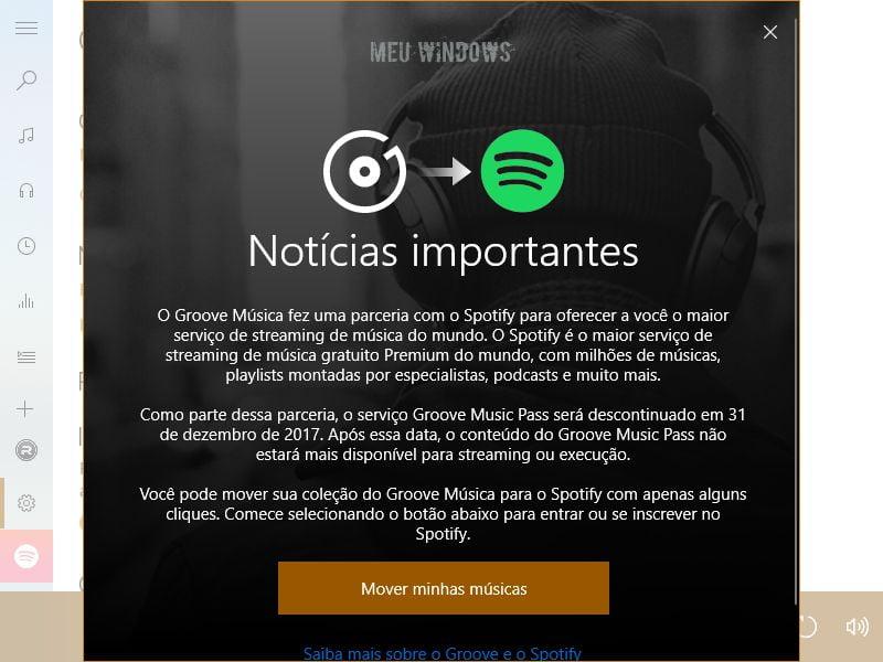 Groove Música para o Spotify