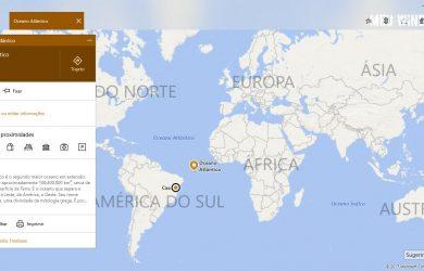 Mapas no Windows 10