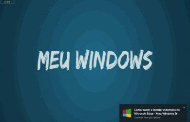 Continue no PC com o Microsoft Edge