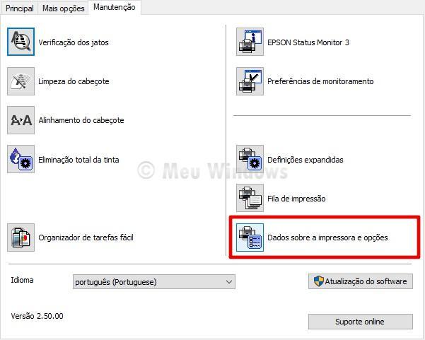 Configurar o temporizador da impressora Epson