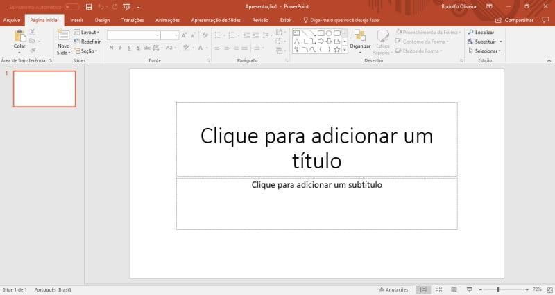Abra uma apresentação no PowerPoint