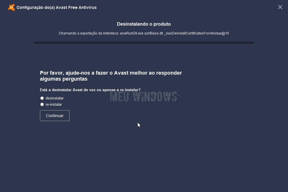 Como desinstalar o Avast