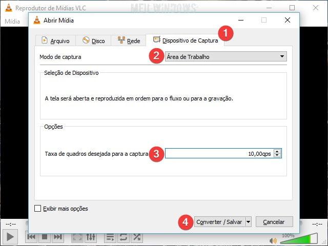Gravar a tela do PC usando o VLC Media Player