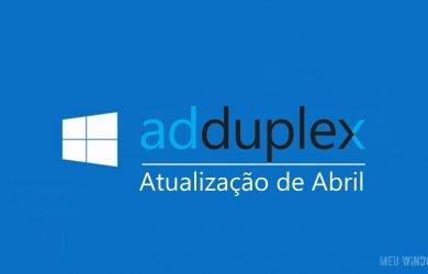 Atualização de abril por AdDuplex
