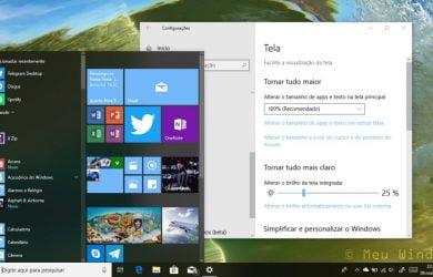 Como manter as barras de rolagem sempre visíveis no Windows 10 1