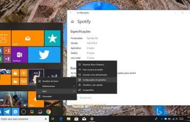 Gerenciar configurações de aplicativos no Windows 10