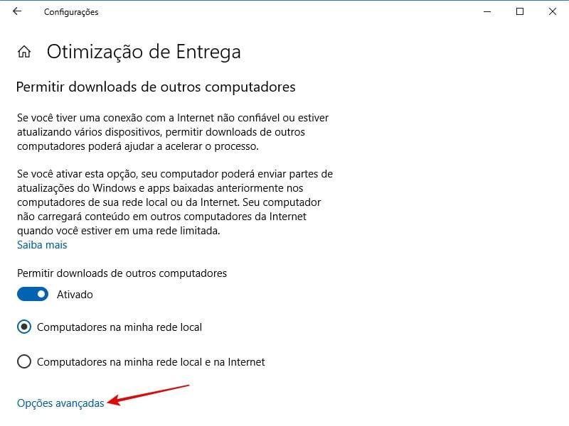 Limitar a largura de banda para downloads