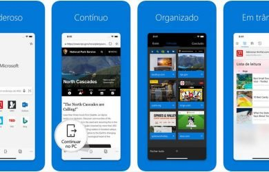 Microsoft Edge para iOS suporte a eBook