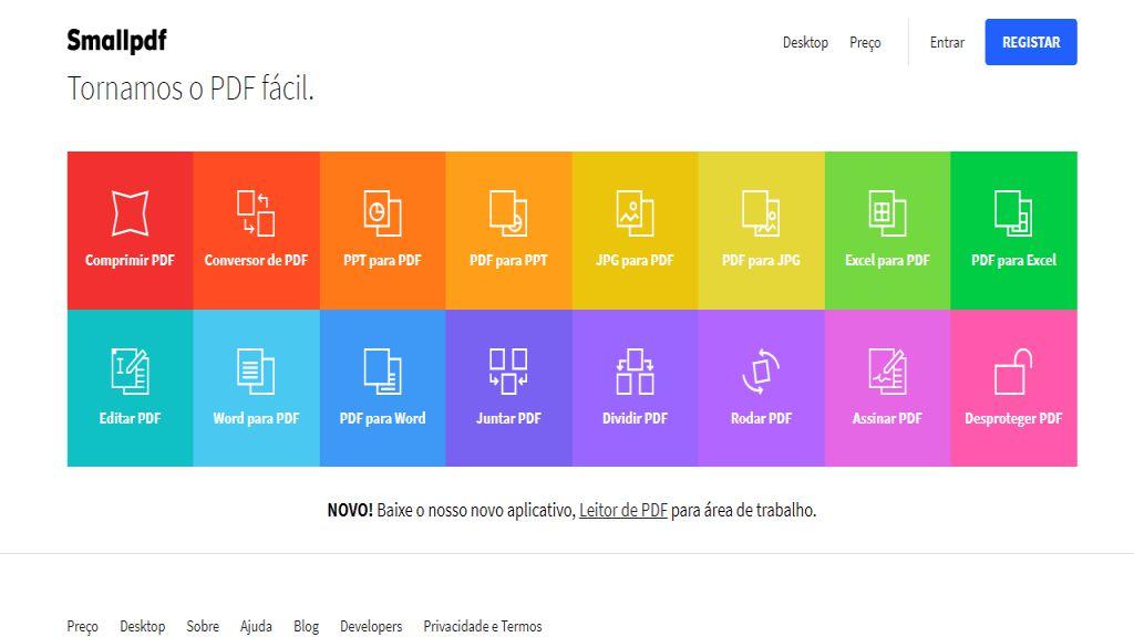 Smallpdf é um dos melhores sites para converter PDF em Word.