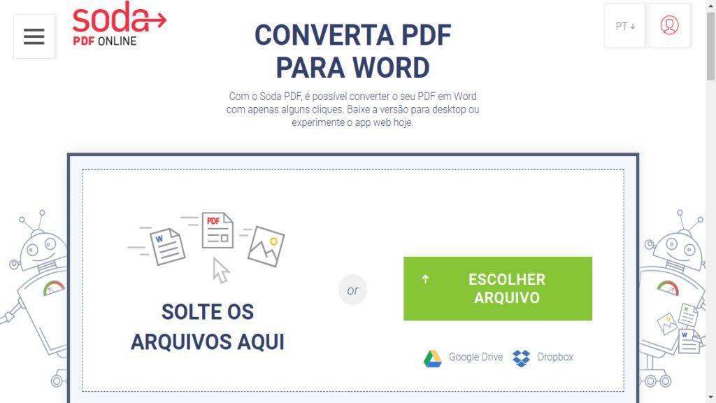 SodaPDF é um dos melhores sites para converter PDF em Word.