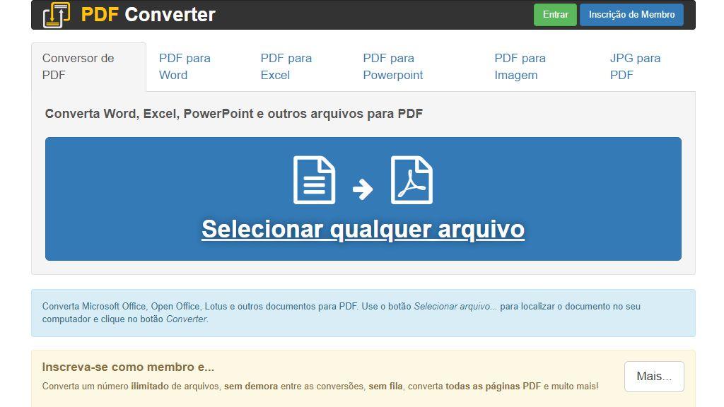 FreePDFConvert é um dos melhores sites para converter PDF em Word.