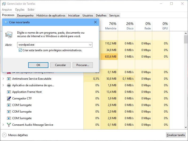 Executar programas como administrador no Windows 10