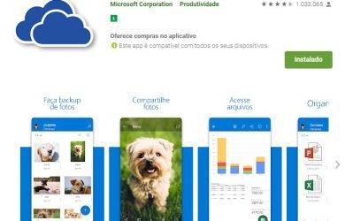 OneDrive para Android é atualizado com suporte a biometria