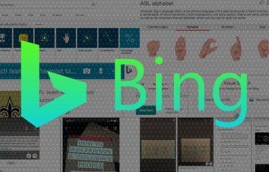 Novos recursos para o Bing