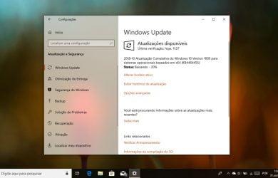 Atualização cumulativa para Windows 10 versão 1809