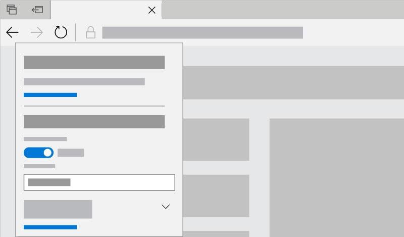 Captura de tela mostrando as configurações de reprodução automática no Microsoft Edge