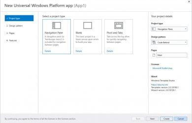 Windows Template Studio 2.5