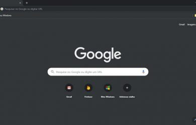 Tema escuro no Google Chrome 74