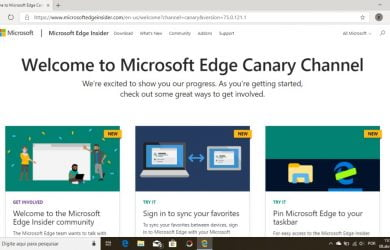 Microsoft Edge Insider baseado no Chromium