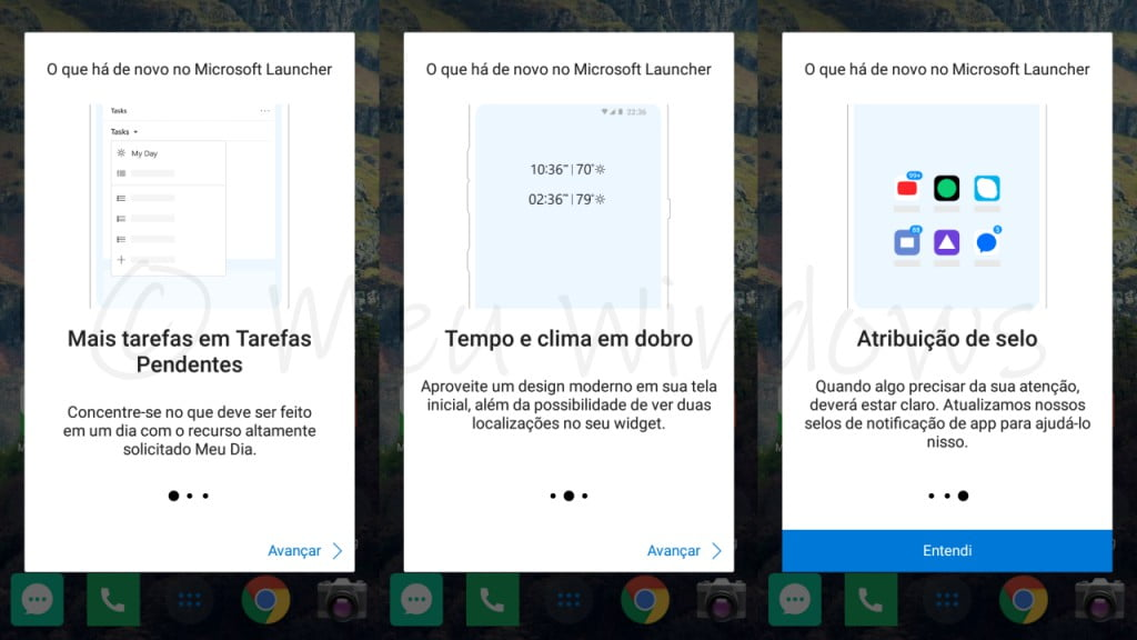 Microsoft Launcher versão 5.3