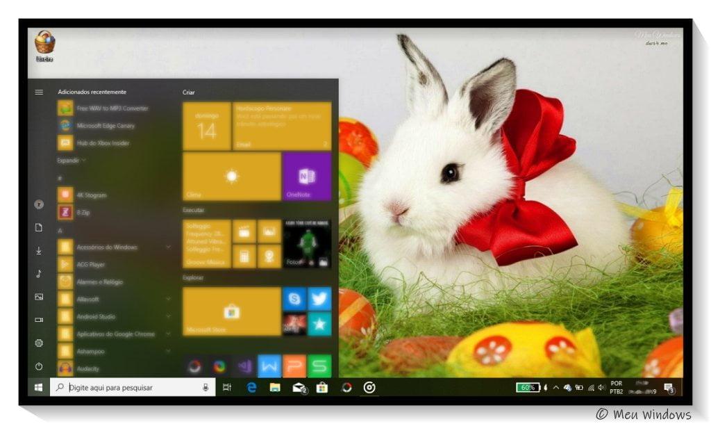 Tema de Páscoa para Windows 10