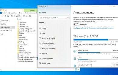 Liberar espaço após atualização do Windows 10
