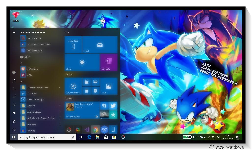 Tema Sonic The Hedgehog para Windows 10