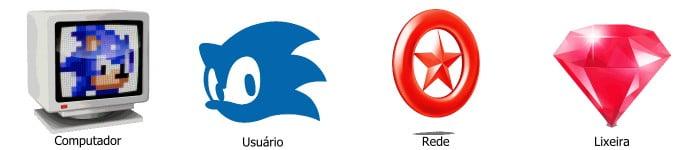 Ícones de Sonic The Hedgehog para  área de trabalho
