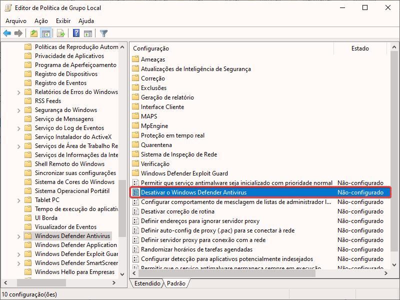 Como desativar o Windows Defender no Windows 10 4