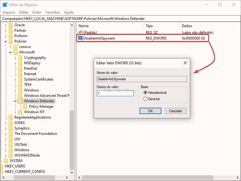 Como desativar o Windows Defender no Windows 10 6
